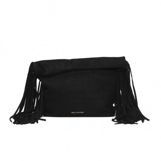 The Lunch Bag: Fringed paper bag black |  -  Hiphunters Shop